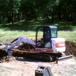 Digging the Viking Swimming Pool Site