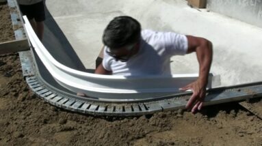 Modern Moulding Cantilever Coping  - Installation On A Vinyl Liner Pool