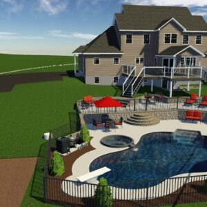Valley Pools' design for the Hamrick project.