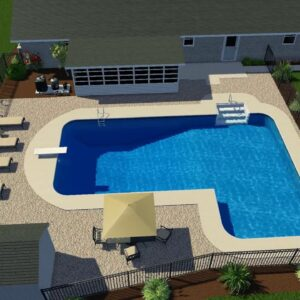 Valley Pools design for the Macchione project.