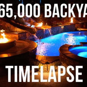 Incredible Pool Construction Time-lapse. Watch $165,000 Backyard Built In 7 Minutes.