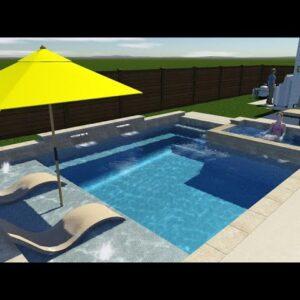 Ocean Blue Pools swimming pool rendering