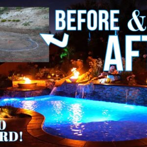Pool Builder-Before And After Backyard Construction