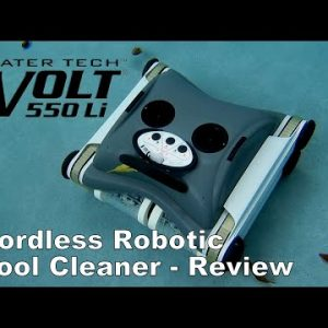 Water Tech Volt 550Li Cordless Robotic Pool Cleaner - Up to 4 Hours per Charge or a Weekly Cycle!