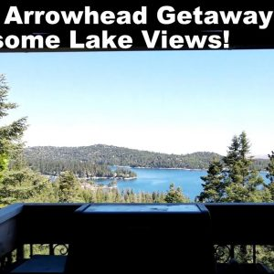 """Lake Arrowhead """"The Castle & Majestic Lake Views"""" - a Great Airbnb We Stayed In. Awesome Lake Views!"""