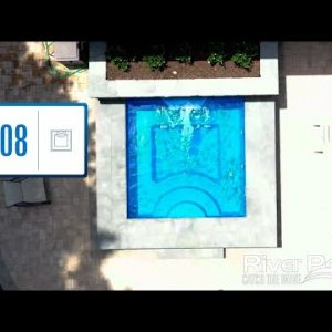 Finished Fiberglass Pool Projects - River Pools SS08 Model Highlights