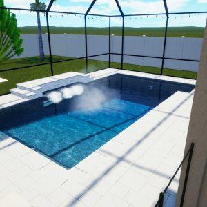 Vosatka Swimming Pool & Screen Enclosure with Elite Pan Roof - Patio Pools