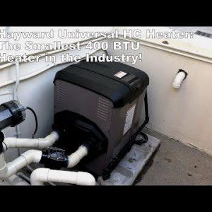 "Hayward Universal HC Heater - The Industries Smallest 400 BTU Heater! Only 22"" Wide!"
