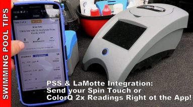 PSS (Pool Service Software) and LaMotte Spin Touch and ColorQ Integration: Send Results to the App!
