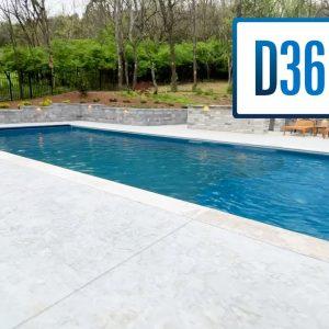 Finished Fiberglass Pool Projects - River Pools D36 Model Highlights