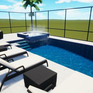Raschke Swimming Pool & Spa with Screen Enclosure - Patio Pools