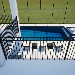 Semaan Swimming Pool & Spa with two-story Screen Enclosure - Patio Pools